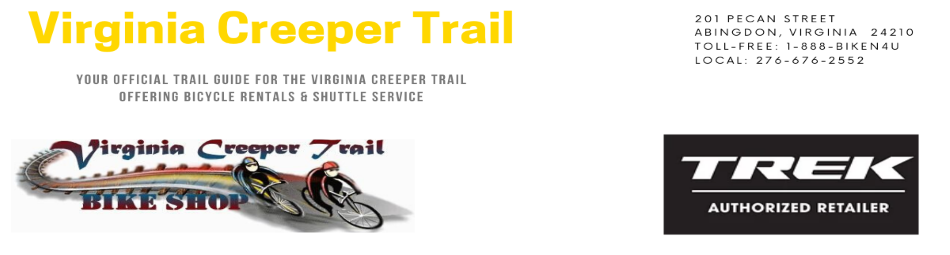 Virginia Creeper Trail Bike Rental and Shuttle Service Information